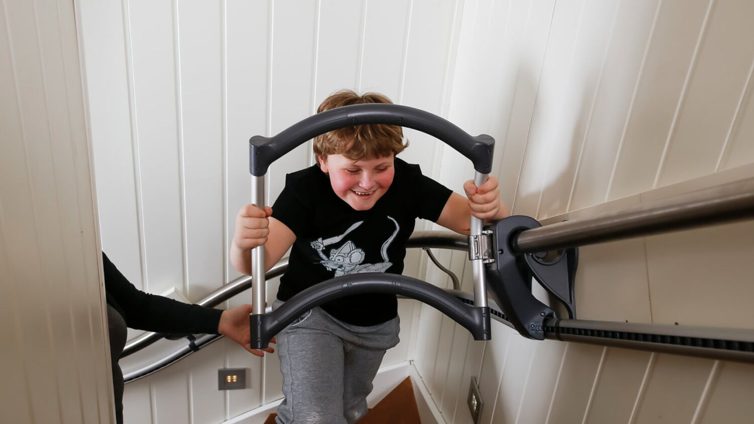 The stairwalker AssiStep is a stair climbing aid for children