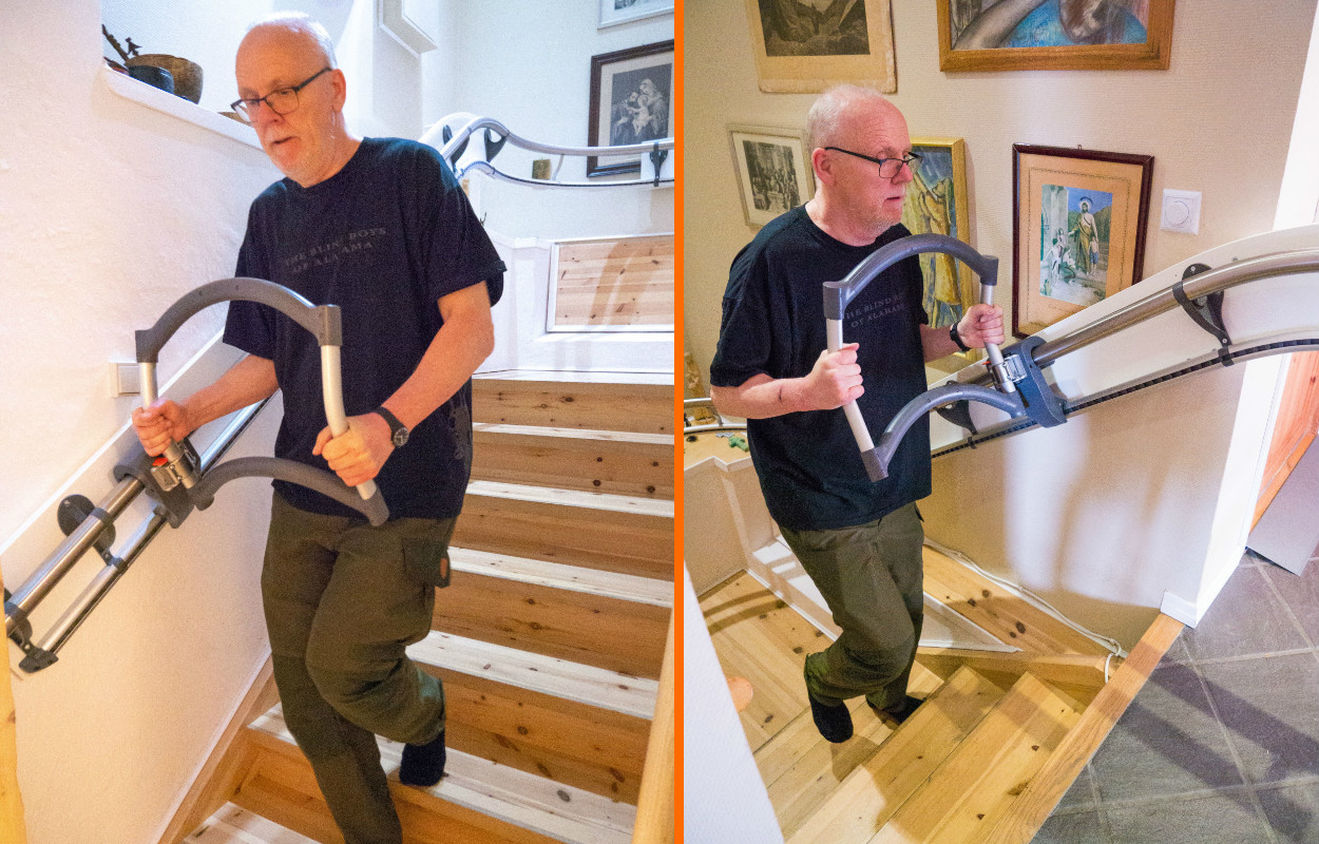 Jan Erik (60) Broke His Back Falling In The Stairs In 2017   Read About His  Experience With The AssiStep Stair Aid
